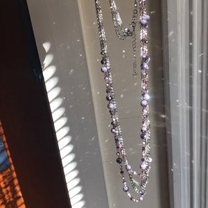 Layered purple necklace